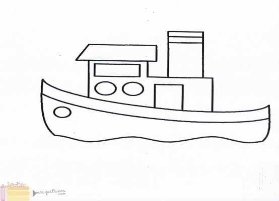 Barco Pesquero Navegando Fichas Infantil Más Que Fichas