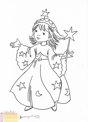 Disfraz de princesa - Fichas infantil - Más que fichas